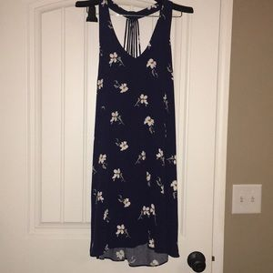 Super cute dress with back detail!